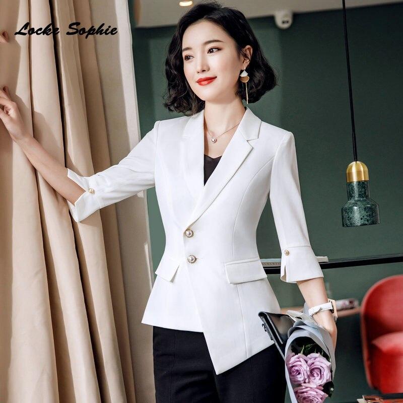 1pcs Women's Plus Size Blazers Coats 2019 Winter Cotton Blend Splicing Irregular Small Suits Jackets Ladies Skinny Blazers Suits