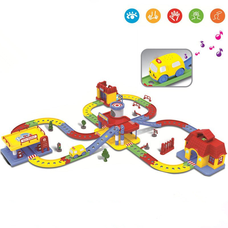 Hot Sell 3D Kids Toys Festive Gifts Electric Rail Car Super Large Roller Coaster Thomas Boy Puzzle Assembled Toys For Child Gift