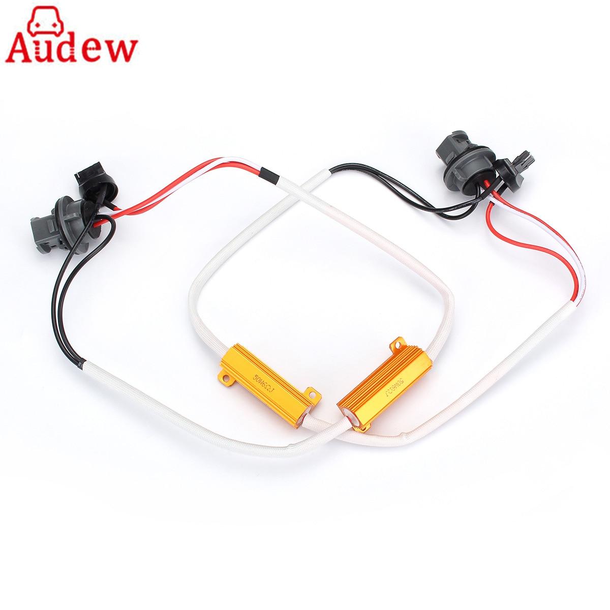 medium resolution of 2pcs t20 light decoder canbus error cancellers w21 5w 7443 580 50w load resistors wiring