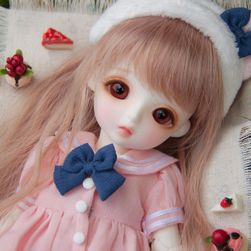1/6 BJD Doll BJD/SD Lina Baby Miu Joints Doll Lovely Resin Doll With Glass Eyes For Baby Girl Birthday Gift bjd sd infant fat giant baby doll bambi bambi square baby girl birthday gift
