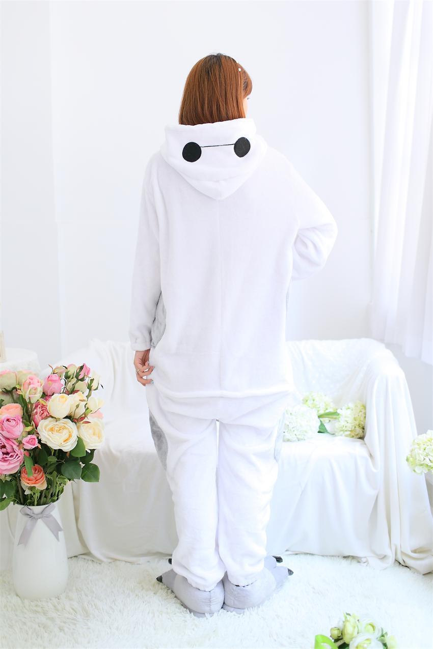 Big Hero 6 Onesies Unisex Baymax Sleepsuit Adult Pajamas Cosplay Jaket Hoodie Black Costumes Sleepwear Jumpsuit Halloween Christmas Party Clothing In Anime From
