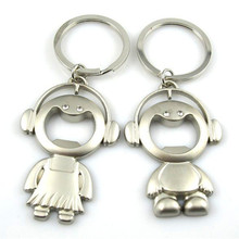 Cute Keychain Music Doll Bottle Opener Key Buckle Chain Ring Cover Holder Lover Women Ladies Man Men Homme Car Beer Jewelry Gift