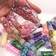 Neueste Mode Glitter Schleim DIY Zubehör Spielzeug Schleim Kristall Schlamm Liefert Zubehör Geschenk Spielzeug Für Kinder Erwachsene
