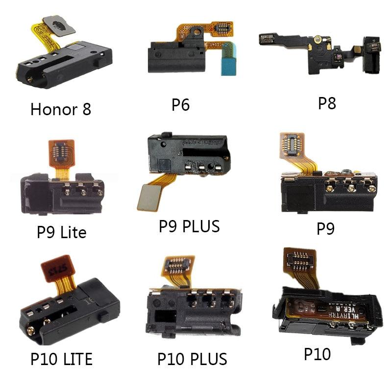 New For Huawei P6 P8 P9 P10 P9 Lite P10 Plus P10 Lite Honor 8 Earphone Headphone Audio Jack Flex Cable Replacement 100% Test
