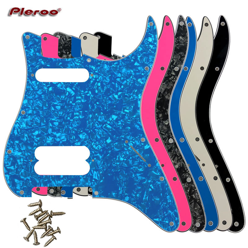Pleroo Guitar Parts - For FD US 11 Screw Hole Standard Start Player Humbucker Hs Guitar Pickguard Scratch Plate