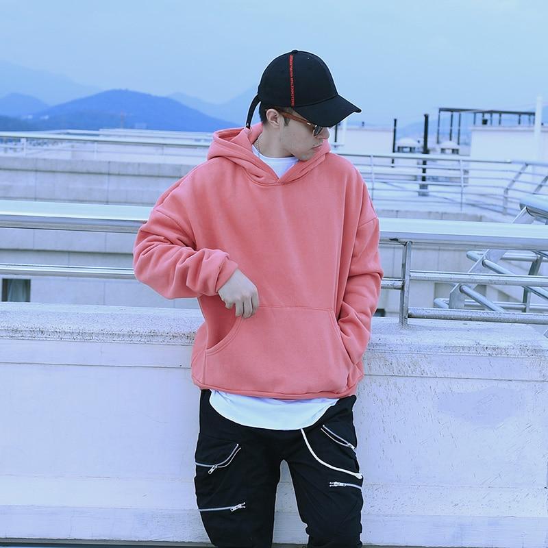 100% Wahr Wow Mode Skateboards Fleece Warm Dicken Pullover Hip Hop Männer Pullover Kanye Rosa Olivgrün Sweatshirt Freizeitkleidung Oversize Noch Nicht VulgäR