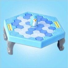 Juguetes para niños batir el bloque de hielo del pingüino de hielo juego de mesa para padres guardar pingüino juguetes educativos interactivos para padres e hijos