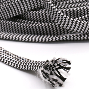 Image 5 - 10M Cotton Braided Sleeving White Black 7 12MM Insulation Braided Sleeving Cable Wire Gland Cables protection