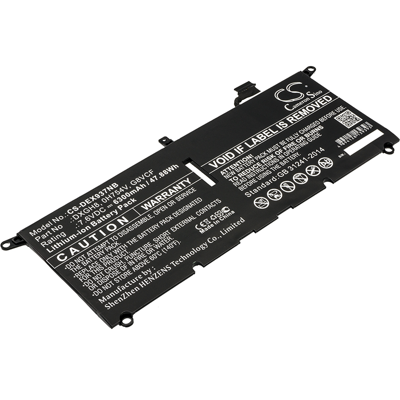 Cameron Sino Upgrade For DELL 0H754V,DXGH8,G8VCF Notebook, Laptop Battery Li-ion 6300mAh / 47.88WhCameron Sino Upgrade For DELL 0H754V,DXGH8,G8VCF Notebook, Laptop Battery Li-ion 6300mAh / 47.88Wh