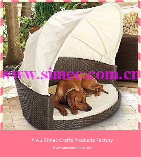 Lovely HDPE Rattan Outdoor Dog Bed With Canopy SCPB 006 In Garden Sets From  Furniture On Aliexpress.com | Alibaba Group