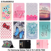 Fashion PU Leather Flip Case For Samsung Galaxy Tab A 10 1 2016 T580 SM T580