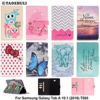 Fashion PU Leather Flip Case For Samsung Galaxy Tab A 10 1 2016 T580 SM T580