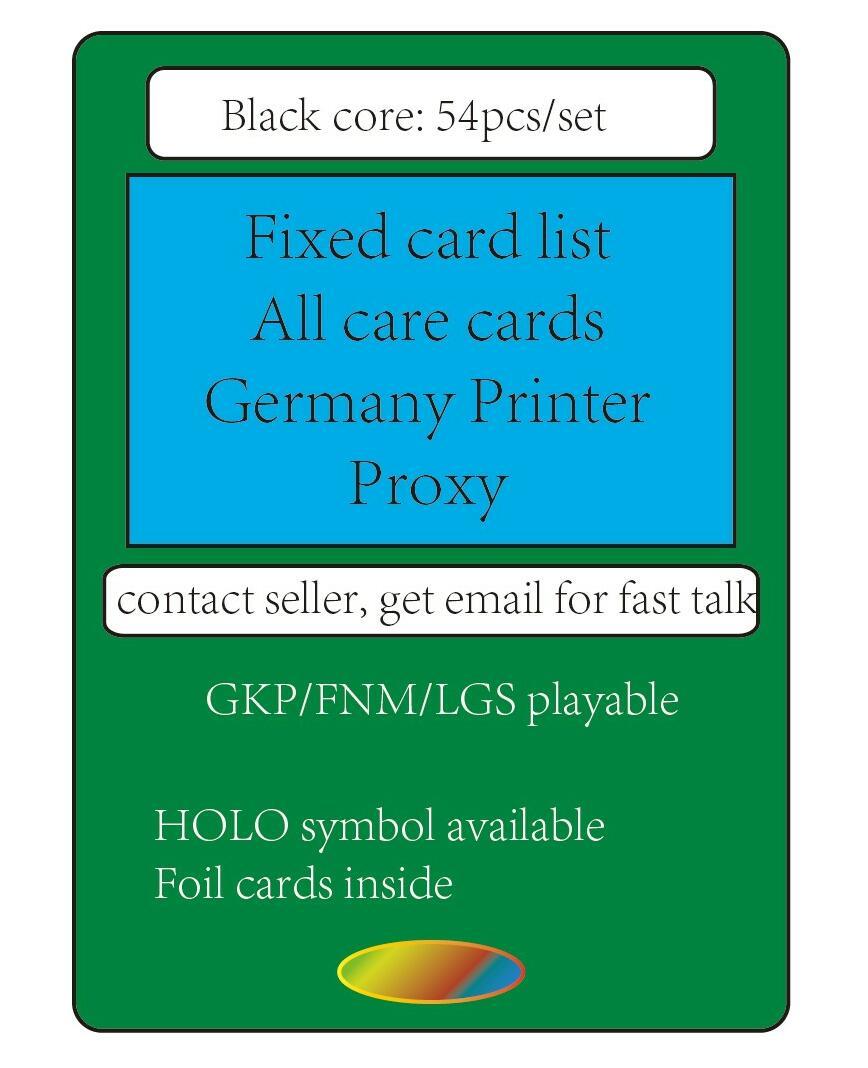 54 sellers preset list German black core paper,lion EDH CUBE deck gather rare proxy cards,hologram modern vintage legacy foil ...