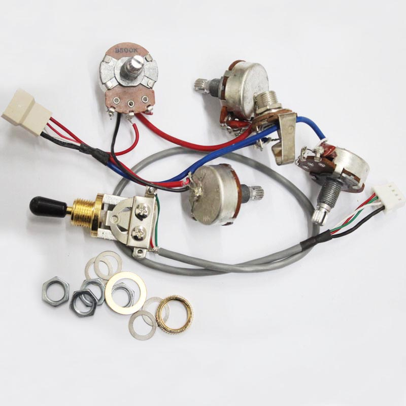 original genuine gold guitar wiring harness for 1 toggle switch + ...  aliexpress