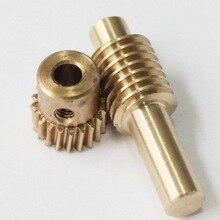 0.5M-20Teeths  Gear Diameter:11.2mm Hole:4mm Copper Worm Rod