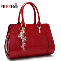 Bags for women 2019 new luxury brand crocodile pattern patent pu leather fashion handbag bride white Shoulder bag bolsos mujer