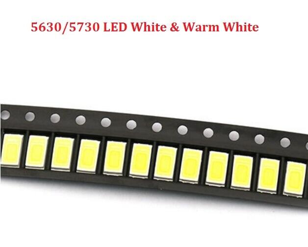 10PCS 5630//5730 High Power 0.5W 1//2W SMD//SMT Warm White LED 40-45LM 3000-3500K