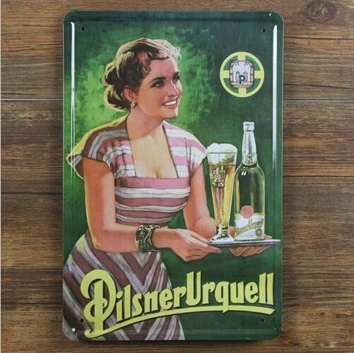 Pilsner Urquell Lager Beer Tin Sign Metal Art Bar Pub Tavern Wall Decor Display 20x30CM