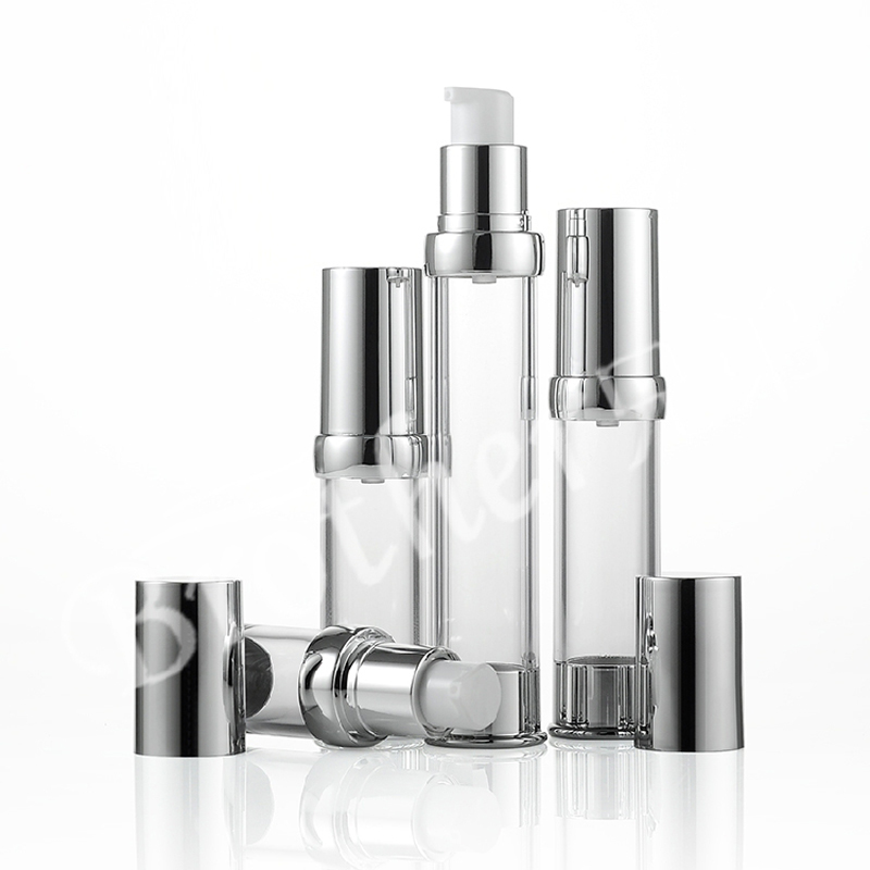 High-grade Silver 10ml 15ml 20ml 30ml Vacuum Refillable Lotion Bottles As Airless Pump Bottle Makeup Tools 10pcs/lot As Effectively As A Fairy Does Beauty & Health
