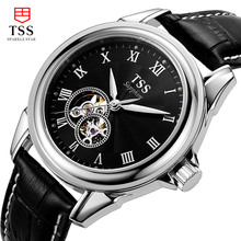 2016 Luxury TSS Brand Men s Watch Automatic Mechanical Watches leather 100m Waterproof Male Casual Business