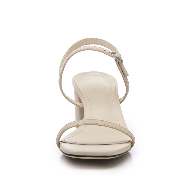 MLJUESE 2018 kvinnor sandaler Äkta läder spännerem Svart färg - Damskor - Foto 5