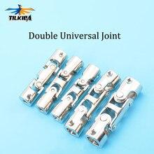 Junção universal dobro 4*4mm/5*5mm/6*6mm/8*8mm/10*10mm com parafuso m3/m4 acoplamentos cardan da junção do metal do modelo de rc