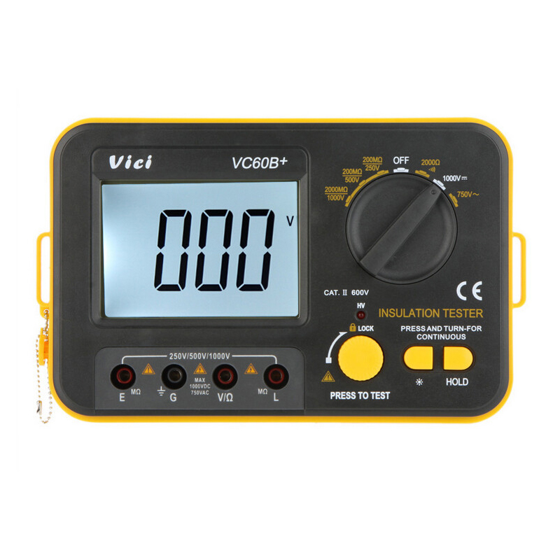 ФОТО 1pcs Vici VICHY VC60B+ Insulation Resistance Tester Megohmmeter Ohmmeter Voltmeter DVM 1000V 2G w/ LCD Backlight
