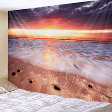 Tapestry Wall Hanging Bed Spread Beach Tower Table Cloth home Decoration Beautiful Sea Beach Design Large