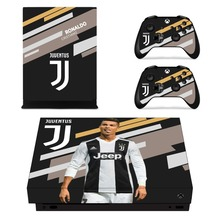 Juventus Cristiano Ronaldo Skin Sticker Decal For Xbox One X Console and Controllers Skins Stickers for Xbox One X Vinyl