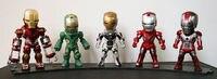 Huong Película Figura 10 CM 5 UNIDS/SET Iron Man MK 5 33 35 37 39 con Luz PVC figura de Acción de Colección Modelo Juguetes Brinquedos