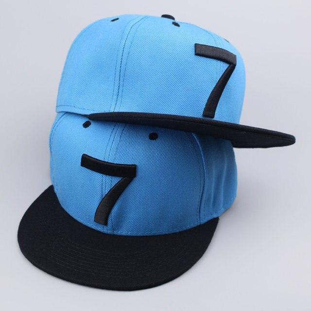 ad0d5f3b815 2017 New Cristiano Ronaldo CR7 blue Baseball Caps hip hop Sports Snapback  hat unisex flat brim hats adjustable high quality