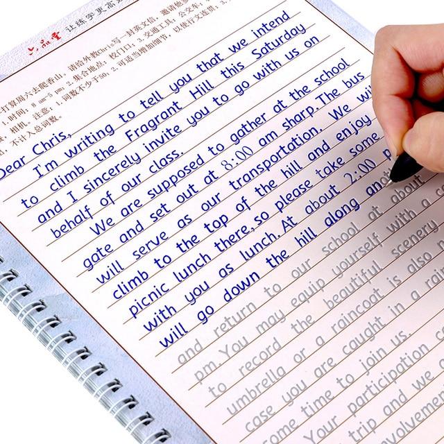 劉ピン唐 3 ピース衡水書き込み英語書道コピーブックアダルトチルドレンのための演習書道練習帳アカウントサービス