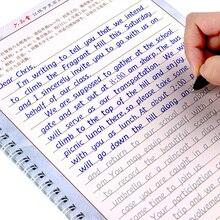 Liu pin tang 3 pcs hengshui 성인 어린이를위한 영어 서예 카피 북 쓰기 서예 연습 도서 libros