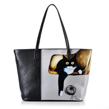 Famous brands women Genuine Leather Bag top quality fashion women handbags Shoulder Bags Cartoon pattern leather bag 50ZQ