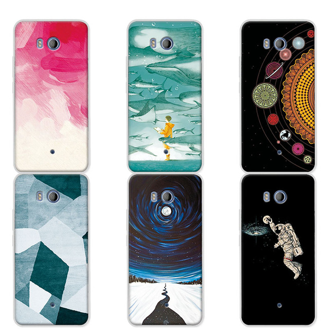 more photos 855fe b106b US $1.1 25% OFF|Couple Phone Cases For HTC U11 4G LTE Universe Planets  Design Funda For Coque HTC U11 Soft Silicon Case For HTC U11 U 11 5.5