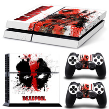 Dealpool ontwerp sticker voor playstation 4 voor ps4 skin PVC vinyl cover voor ps4 console en dualshock 4 skin voor ps4 sticker