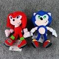 Novo estilo 21 cm/23 cm velocidade do som sonic sonic the hedgehog plush dolls macio recheado de brinquedos de pelúcia boneca