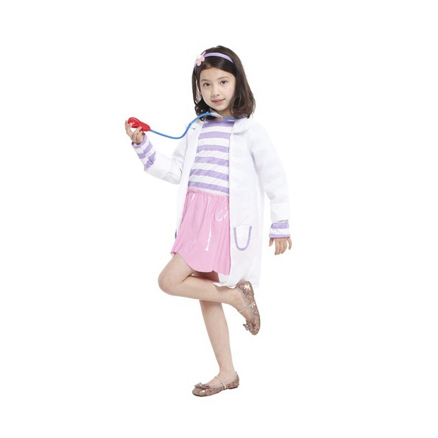 a3cb04a786681 M-XL Movie Anime Kids Girls Nurse Costume kindergarten Cosplay Fantasia  Disfraces Party Children's Halloween Doctors Costumes