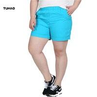TUHAO LARGE SIZE CLOTHING Candy Color Summer Shorts Women Casual Short Feminino Plus Size 4xl 5xl