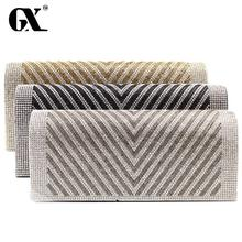 GX 2016 New Design Ladies Evening Party Rhinestone Small Casual Clutch Bag eveningbag Bridal Purse Handbag evening bags
