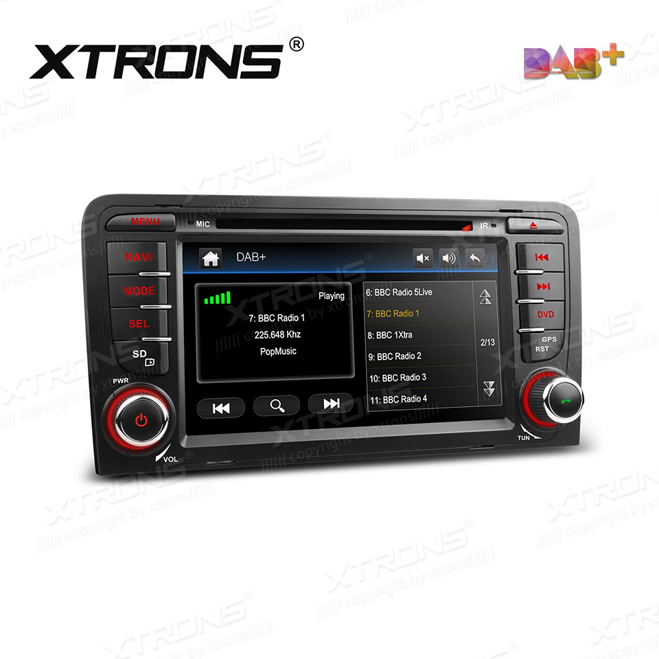 7 dab car radio dvd player gps for audi a3 8p s3 8p1 3 door hatchback rs3 sportback auto 2 din. Black Bedroom Furniture Sets. Home Design Ideas