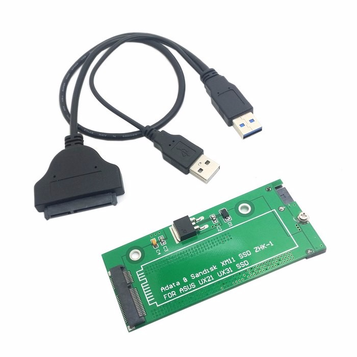 SATA Adapter Adaptor card USB3.0 USB 3.0 sata Cable adapter connector For ASUS EP121 UX21 UX31 SANDISK ADATA XM11 SSD 2.5 3.5