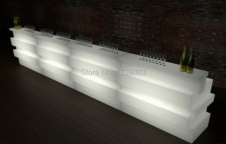 Italy Style Multi-Color Rechargeable LED JUMBO Bar Counter IR Control Luminous BREAK LINE SLIDE STUDIO LIGHT FURNITURE SmartBar ...