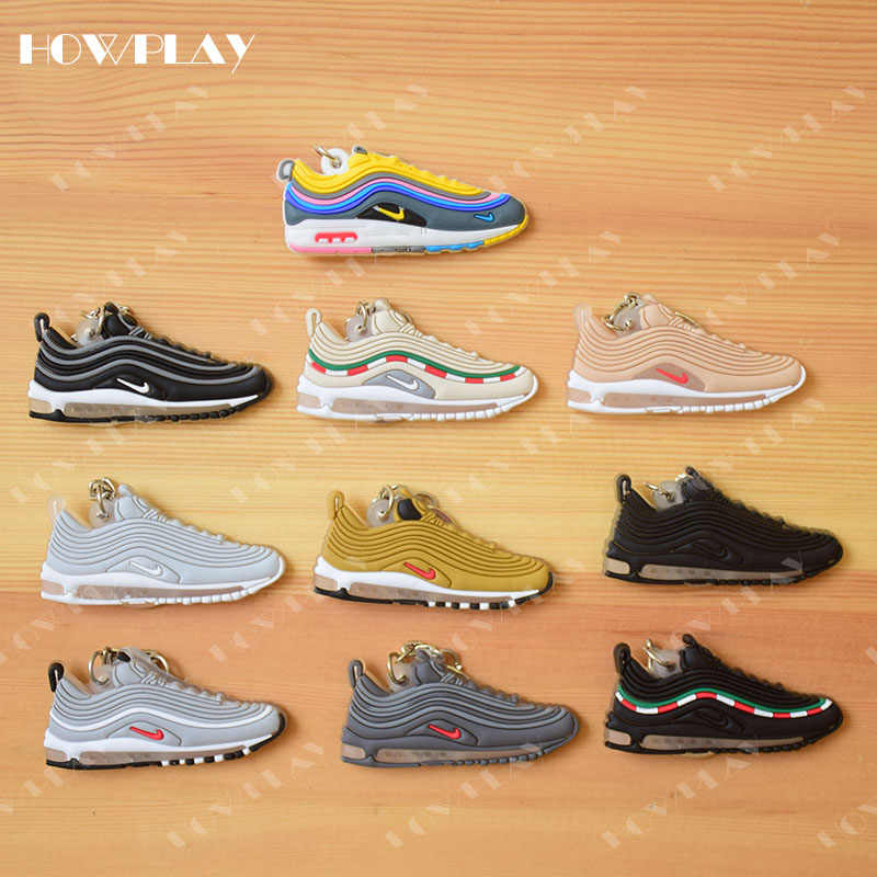 HowPlay mini sneakers keychains basketball keyring model air max 97 backpack pendant key holder creative gifts dropshipping