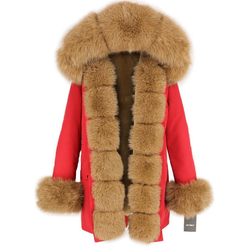 OFTBUY Waterproof Long Parka Winter Jacket Women Real Fur Coat Natural Fox Fur Collar Hood Thick Warm Streetwear Detachable New 75