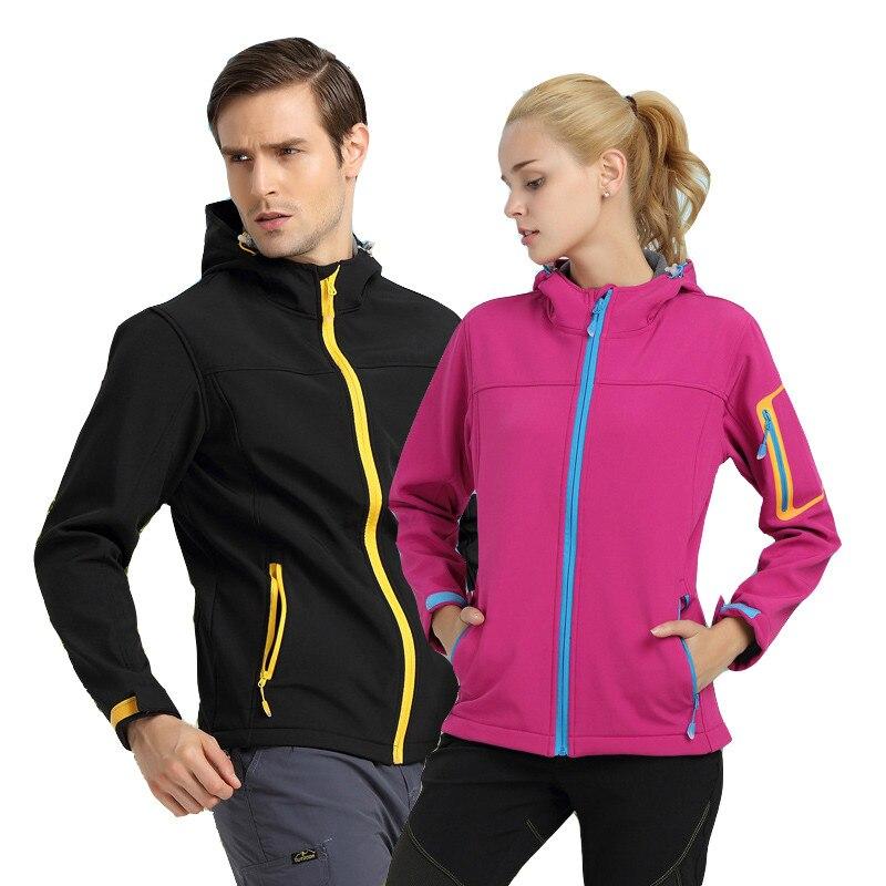 2018 Men Women Spring Autumn Outdoor Hiking Jacket Waterproof Windproof Softshell Coat Sports Camping Trekking Climbing Jackets
