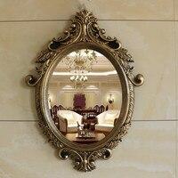 European Bathroom Mirror Wall Hanging Home Decoration Dressing Table Mirror Makeup Mirror Retro Decorative Mirror
