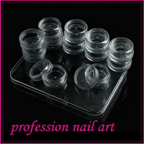 Fast & Free Shipping New 60 x Nail Art empty box container transparent S213