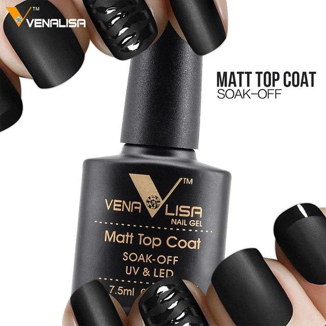 VENALISA Matte Top Coat CANNI Nail Art Design High Quality UV LED Base Coat, No Sticky Layer Top Coat, Soak off Matt Topcoat