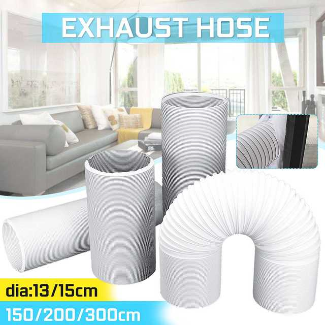 Portable Air Conditioner Parts Diameter 13cm/15cm Exhaust Hose Tube Free extension Flexible DIY Home For Air Conditioner Tools